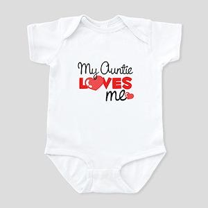 My Auntie Love Me (red) Infant Bodysuit