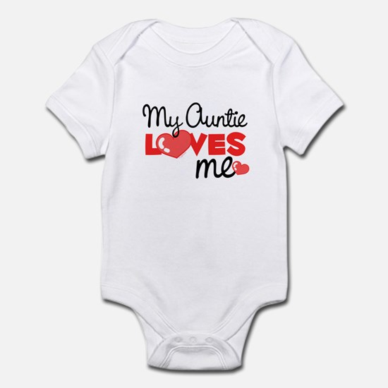 My Auntie Love Me (red) Infant Bodysuit