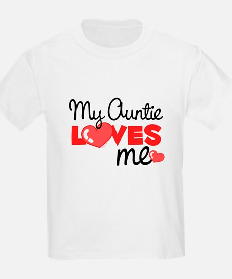 My Auntie Love Me (red) Kids T-Shirt