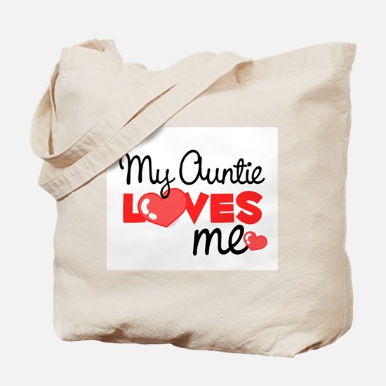 My Auntie Love Me (red) Tote Bag