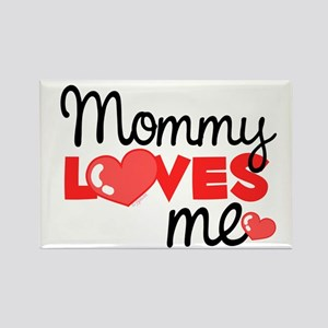 Mommy Love Me (red) Rectangle Magnet