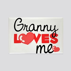 Granny Love Me (red) Rectangle Magnet