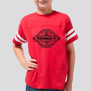 PERSONALIZED Poison Label Youth Football Shirt