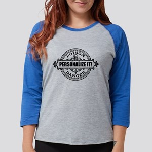 PERSONALIZED Poison Label Womens Baseball Tee
