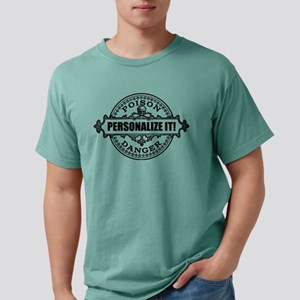 PERSONALIZED Poison Label Mens Comfort Colors Shir