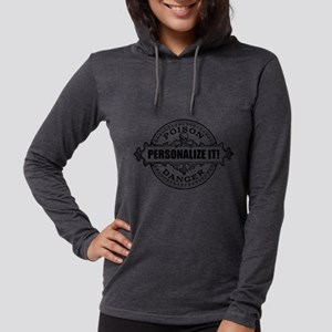 PERSONALIZED Poison Label Womens Hooded Shirt