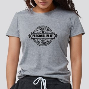 PERSONALIZED Poison Label Womens Tri-blend T-Shirt