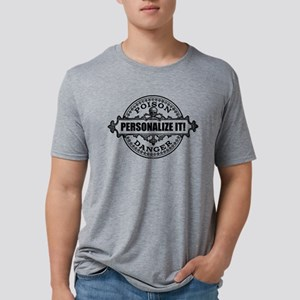 PERSONALIZED Poison Label Mens Tri-blend T-Shirt