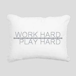 Work Hard/Play Hard Rectangular Canvas Pillow
