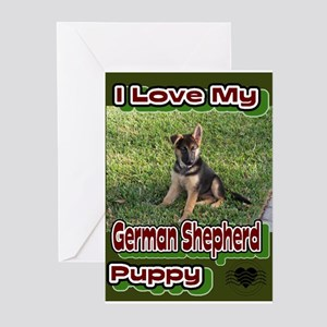 I Love My GSD Pup Greeting Cards (Pk of 10)