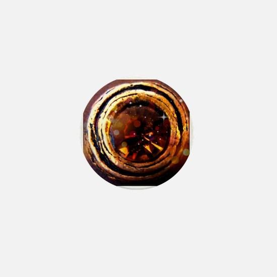 Rustic Rhinestone Mini Button