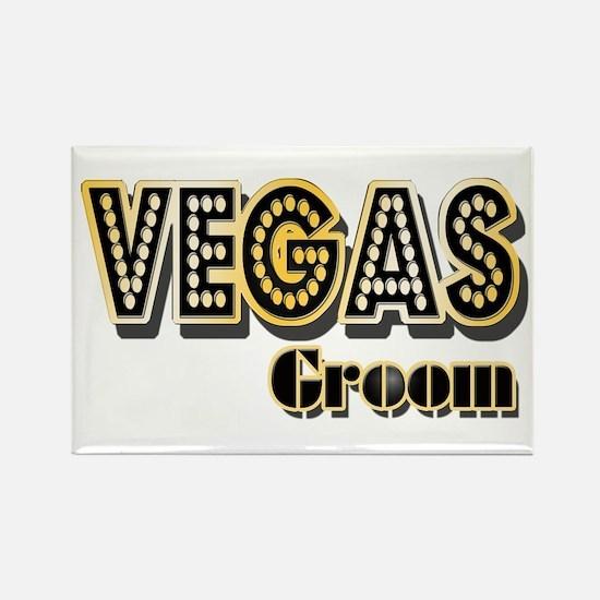 Vegas Groom Rectangle Magnet