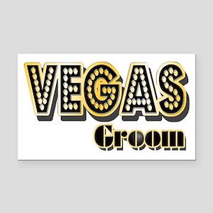 Vegas Groom Rectangle Car Magnet