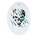 Skull & Crossbones 2 Oval Ornament