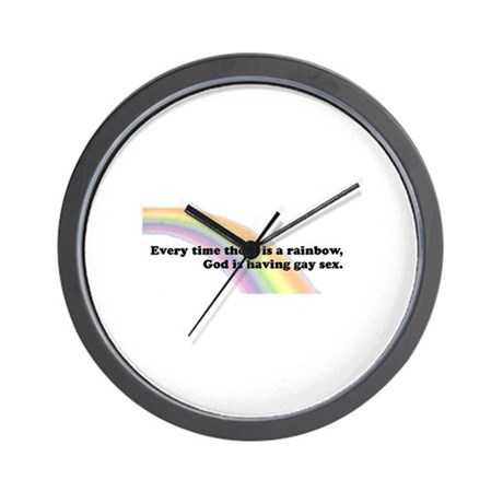 Every time there is a rainbow Wall Clock