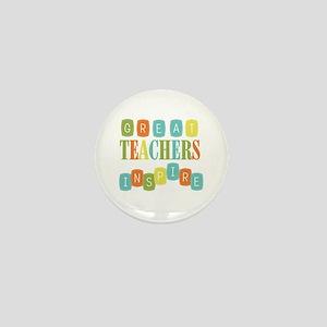 Great Teachers Inspire Mini Button