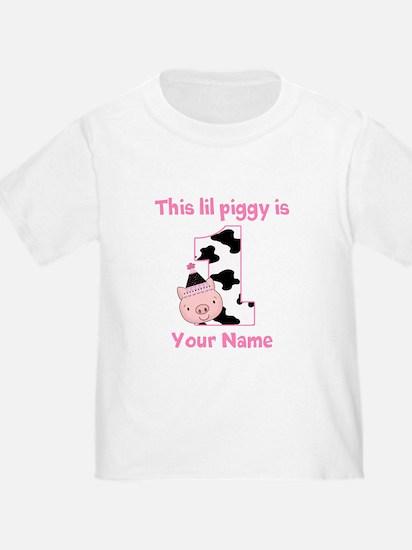 1st Birthday Piggy T-Shirt