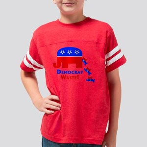 Democrat Waste Pro Republican Youth Football Shirt