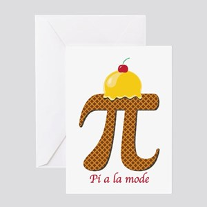 Pi a la mode Greeting Cards