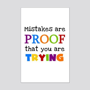 Mistakes Proof You Are Trying Mini Poster Print