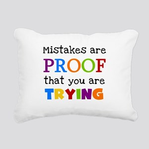 Mistakes Proof You Are Trying Rectangular Canvas P