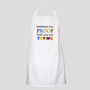 Mistakes Proof You Are Trying Apron