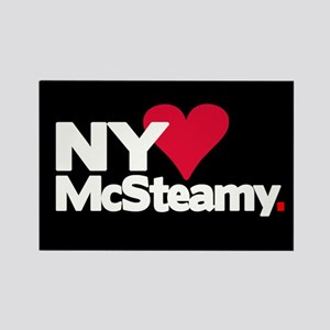 """""""NY Loves McSteamy"""" Rectangle Magnet"""