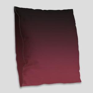 Shades of Rose Pink Burlap Throw Pillow