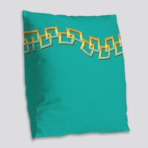 Squares Burlap Throw Pillow