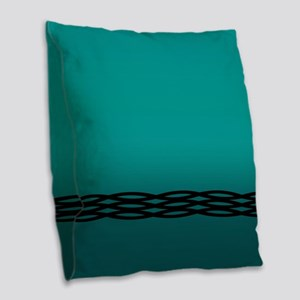 Teal Weave Burlap Throw Pillow