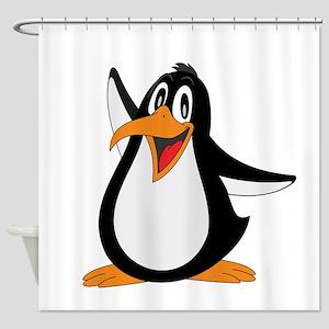 Funny Penguin Shower Curtain