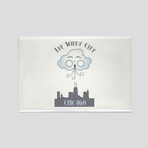 The Windy City Chicago Rectangle Magnet