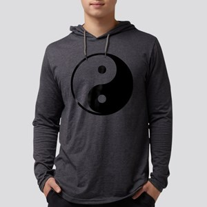 Yin Yang Symbol Mens Hooded Shirt