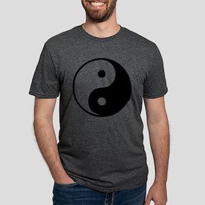 Yin Yang Symbol Mens Tri-blend T-Shirt