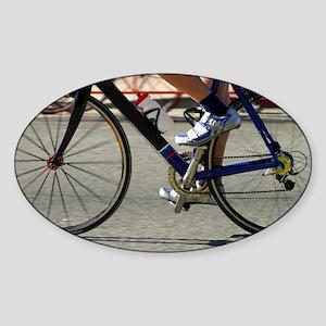 Bike Race Sticker (Oval)