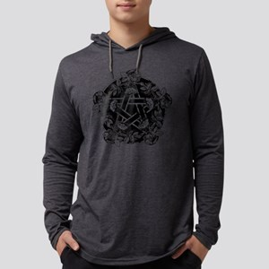 Pentacle With Roses Mens Hooded Shirt