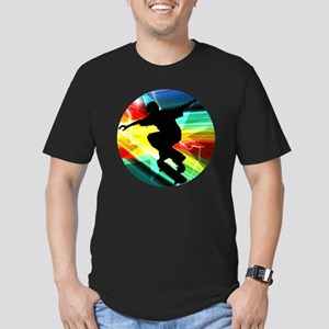 Skateboarding on Criss Men's Fitted T-Shirt (dark)