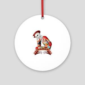 Calavera Hombre Round Ornament