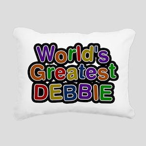 Worlds Greatest Debbie Rectangular Canvas Pillow