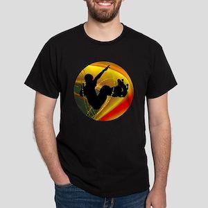 Skateboarding Silhouette in the Bowl Dark T-Shirt