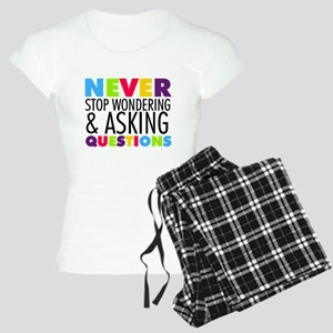 Never Stop Wondering Women's Light Pajamas