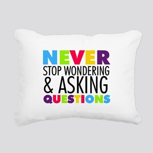 Never Stop Wondering Rectangular Canvas Pillow