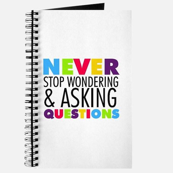 Never Stop Wondering Journal