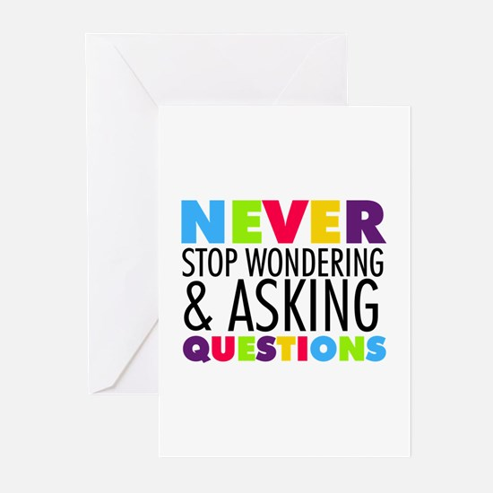 Never Stop Wondering Greeting Cards (Pk of 10)