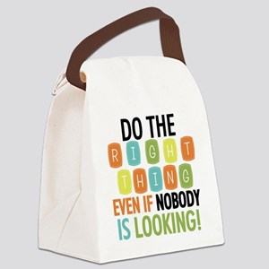 Do The Right Thing Canvas Lunch Bag