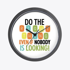 Do The Right Thing Wall Clock