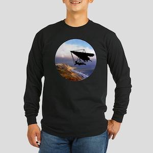 Hang Gliding Over the Cal Long Sleeve Dark T-Shirt