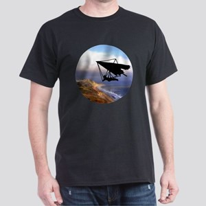 Hang Gliding Over the California Coas Dark T-Shirt