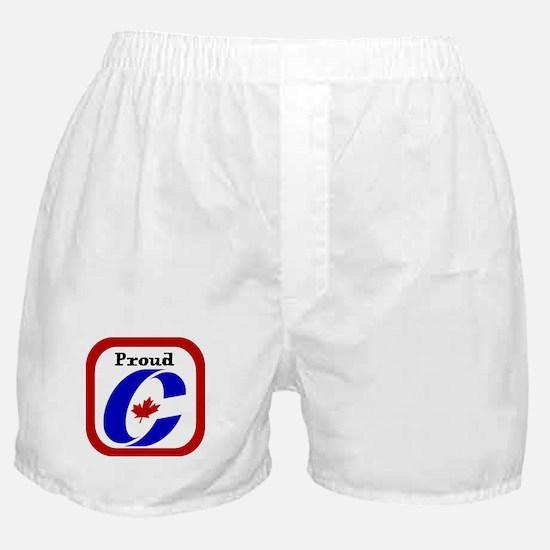 Proud Canadian Conservative Boxer Shorts