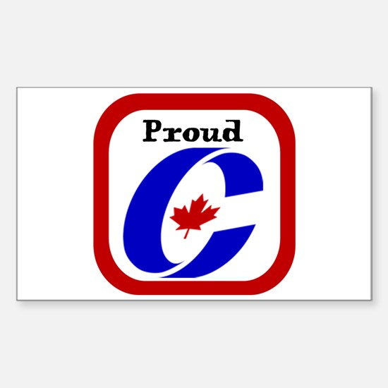 Proud Canadian Conservative Rectangle Decal